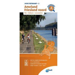 ANWB Regiokaart 2 Ameland - Friesland noord