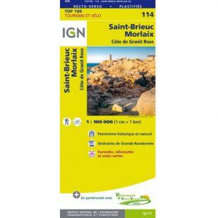 IGN 114 St.-Brieuc/Morlaix