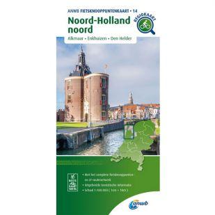 ANWB Fietsknooppuntenkaart 14 Noord-Holland noord