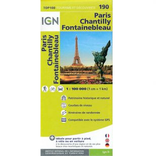 IGN 190 Paris/Chantilly/Fontainebleau
