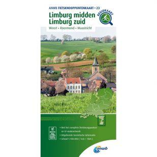 ANWB Fietsknooppuntenkaart 23 Limburg midden - Zuid Limburg