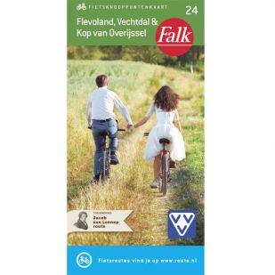 Falk Fietsknooppuntenkaart 24: Flevoland, Vechtdal & Kop van Overijssel