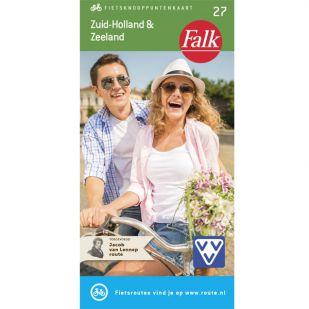 Falk Fietsknooppuntenkaart 27: Zuid-Holland & Zeeland