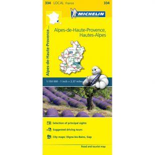 Michelin 334 Alpes-De-Haute-Provence, Hautes-Alpes