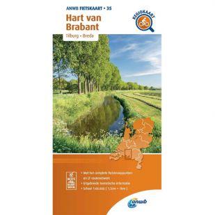 ANWB Regiokaart 35 Hart van Brabant - Noord-Brabant midden