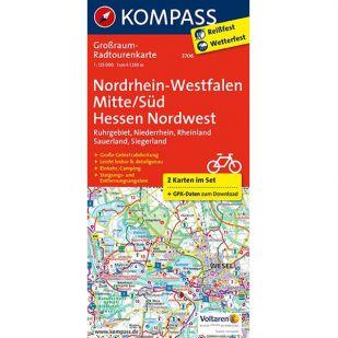 KP3706 Radkarte Nordrhein-Westfalen Mitte/Süd – Hessen Nordwest