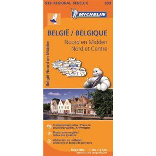 Michelin 533 Noord & Midden-Belgie