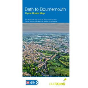 Sustrans Map Bath to Bournemouth Cycle Way