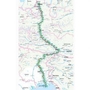 Alpe Adria Radweg Bikeline Fietsgids (2020) - Salzburg Naar Adriatische Zee