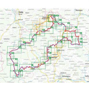 Vom Main zur Rhön Bikeline Kompakt fietsgids