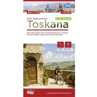 Toskana Radtourenkarte