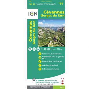 IGN Cevennes PRN (11) - Gorges du Tarn  - Wandel- en Fietskaart