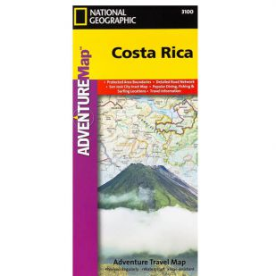 Costa Rica Adventure Map