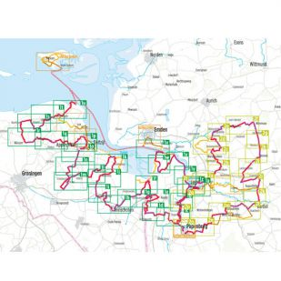 Internationale Dollard route + Deutsche Fehnroute Bikeline Fietsgids