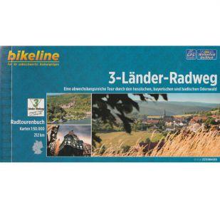 3-Länder-Radweg Bikeline Fietsgids