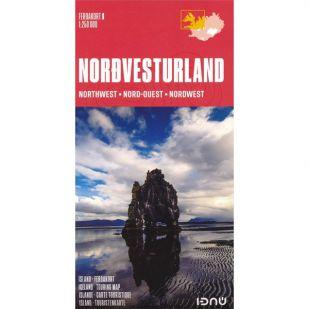 IJsland noord-west Ferdakort