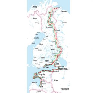 Europa-Radweg Eiserner Vorhang 1 Finnland Ostseekuste Baltikum Bikeline Fietsgids
