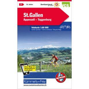 St. Gallen/Appenzell/Liechtenstein Velokarte 7