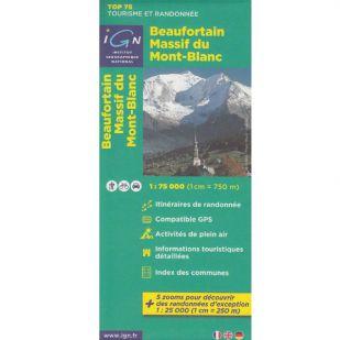 IGN Beaufortain - Massif du Mont Blanc (04)  - Wandel- en Fietskaart