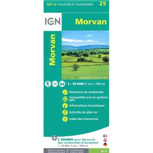 IGN Morvan (25) - Wandel- en Fietskaart