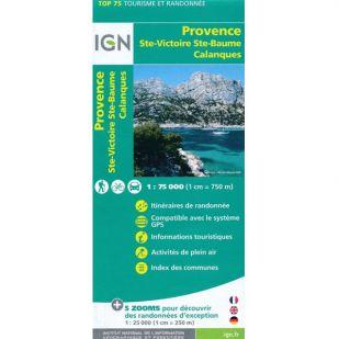 IGN Provence (35): Ste Victoire - Ste Baume - Calanques - Wandel- en Fietskaart