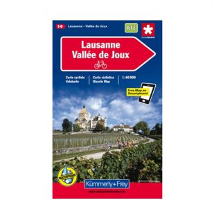 Lausanne - Vallee de Joux Velokarte 14