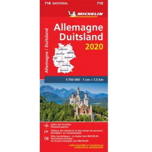 Michelin Wegenkaart 718 - Duitsland 2020