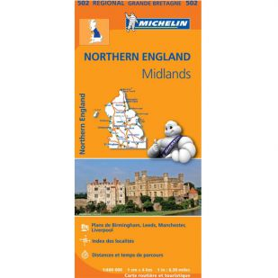 Michelin 502 Northern England-The Midlands
