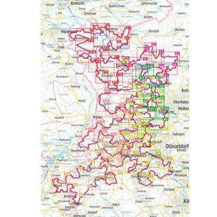 NiederRheinroute Bikeline Kompakt fietsgids (2021)