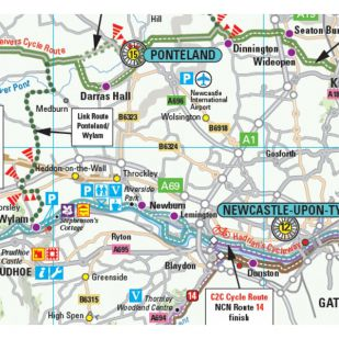 Cycle Touring Map Northumberland
