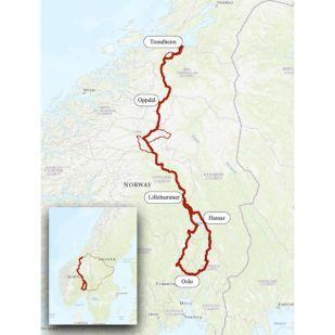 Het Olavspad - van Oslo naar Trondheim