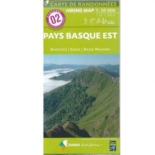 Pyrénées Carte no.2: Pays Basque Est