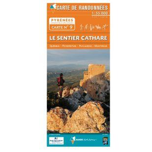 Pyrénées Carte no.9: Le Sentier Cathare !