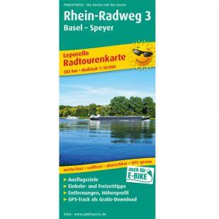 Rheinradweg 3: Basel - Speyer (kaart)