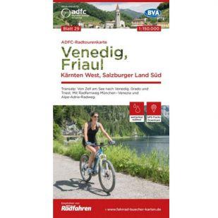 ADFC Radtourenkarte 29. Venedig - Friaul - Karnten !